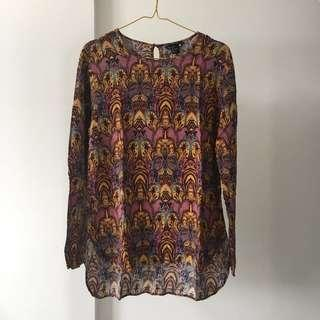 H&M abstract top
