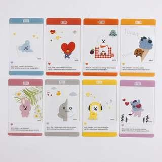 [WTS] BTS - BT21 Transparent Photocards Set