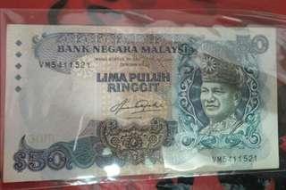 Duit RM50 limited