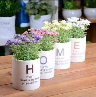 ✨Instock✨ HOME Artificial Flower Pot | 4 piece set