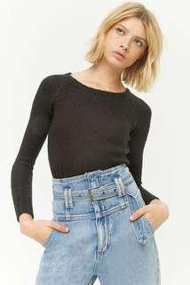 Forever21 Cropped Raglan Sweater