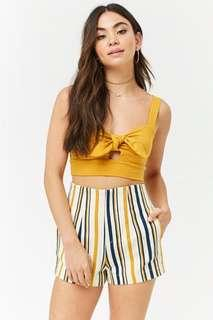 Forever21 Multicolored Striped Shorts