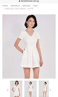 HVV Carousel Lace Dress in White S