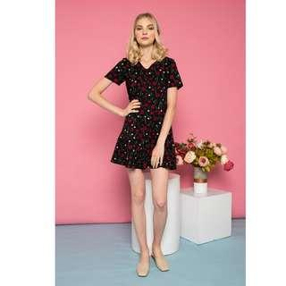 🚚 BN TSW Emlen Floral Button Down Dress in Black