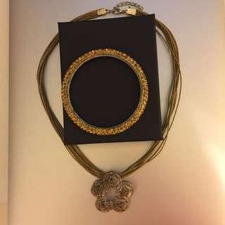 Necklace n bangle set