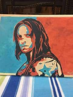 Winter Soldier Acrylic Painting #oct10