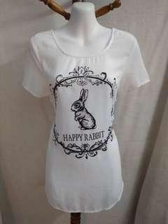 Sale * Vintage white rabbit design top