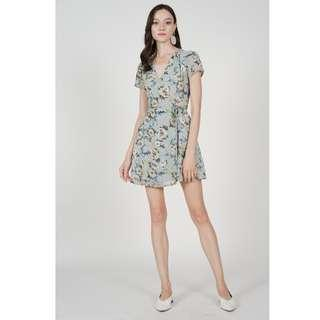 🚚 BN MDS Tie Wrapped Dress in Light Blue Floral