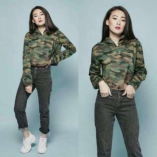 Croped army top