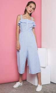 🚚 Hollyhoque Stripe Jumpsuit in Blue