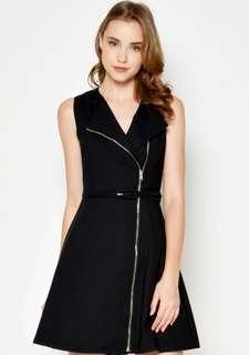 BN New Love and Bravery KENNIE TRENCH ZIP DRESS BLACK Size M Brand New