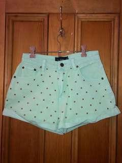 Minkpink High Waisted Studded Shorts