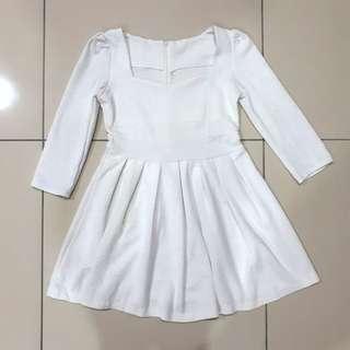 UK8 Lovely White Vintage Korean dress