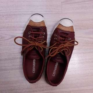 Converse burgundy jack purcell leather sneaker