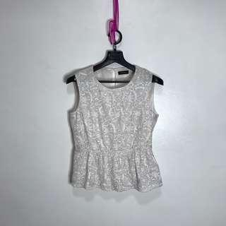 Max and Co. (Max Mara Brand) Guipure Lace Peplum Top