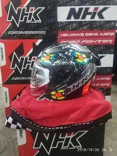 NHK Helmet R1 Jules Black Glossy