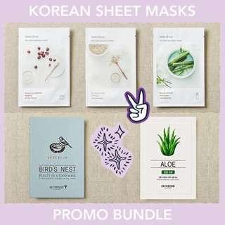 Sheet Masks Bundle - INNISFREE & SKINFOOD