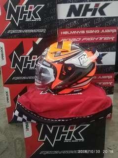 NHK Helmet R1 Giga Orange Flo/Silver