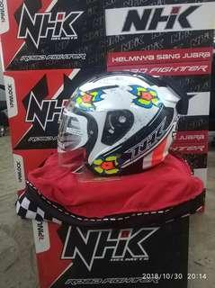 NHK Helmet R1 Jules Star White Glossy