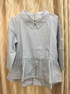 Grey tops yuan clothing