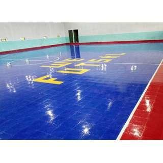 Interlock lapangan futsal, bulutangkis, basket, voli, etc