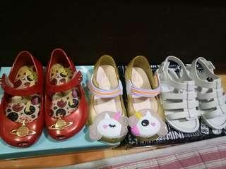 Mini Melissa shoes size 5 and 6