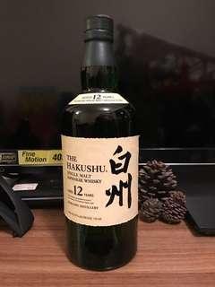 日本威士忌 白州美版12 年 無盒