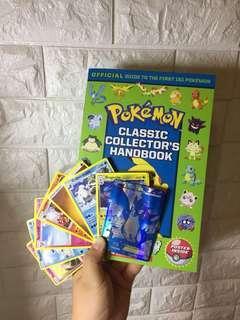 Pokemon collectors handbook + cards