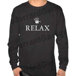 Relax Parody Long Sleeve T-Shirt
