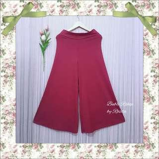 Celana Kulot Cullote Preloved Second Bekas Berkualitas Pink Fushia Merah Muda Bahan Kaos Spandex Korea
