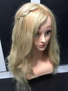 100% Real Hair Fake Head
