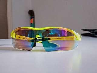 [SOLD] OBAOLAY Neon Yellow Sport Sunglasses