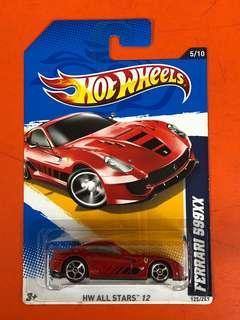 Hotwheels Ferrari 599XX All Stars '12