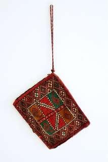 ethnic carpet clutch