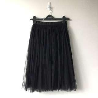 Needle & Thread Black Tulle Skirt
