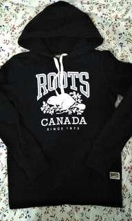 🚚 Roots 經典款內刷毛 黑色帽T