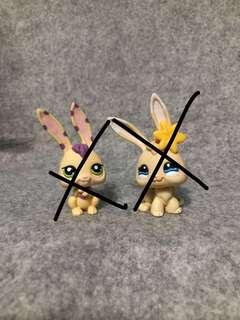 Littlest pet shop bunny and rabbit
