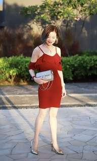 Haylen Store Emily Flounce Dress XS