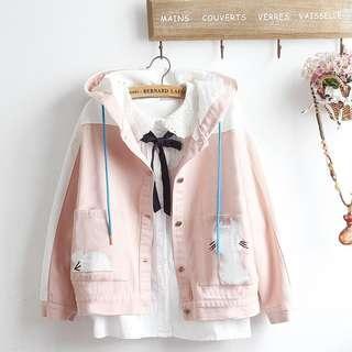 Japanese style cat/mouse jacket