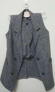 🚚 西裝式背心+短褲