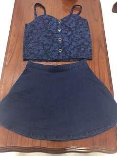 Blue Top & skirt - set