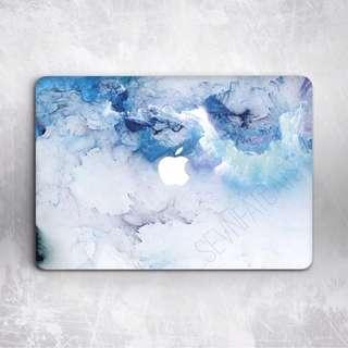 Minimal Blu Macbook Cover