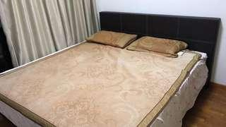 2 year old queen size mattress plus bed frame