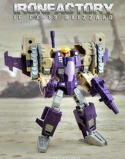 WTF want to buy Transformers IronFactory IF EX -13 Blizzard Trinity Elite Warrior Blitzwing