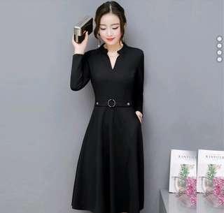 Classy OL black dress