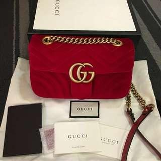 100% Authentic Gucci GG Marmont Velvet