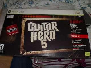 Guitar hero 5 game plus guitar