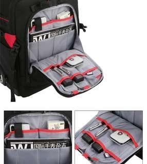 🚚 可拉式 拉桿攝影包 專業攝影包 双肩背包 相機包 多功能大容量 可背可提 登機箱 內裏可拆 可放筆電 登山背包 可放腳架