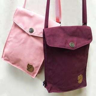 現貨 Kanken By Fjallraven Pocket Shoulder Bag 瑞典北極狐旅行隨身袋 - 粉紅 深紅 Pink / Dark Garnet  免順豐自取運費 文青背包