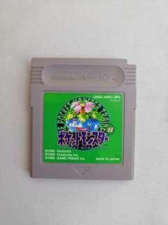 Gameboy Pokemon 寵物小精靈 綠 緑 Green Pocket Monsters Game Boy